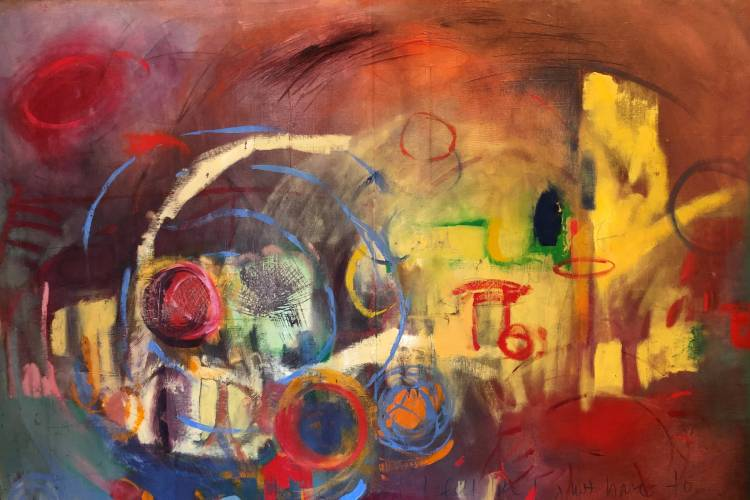 Mind Map abstract painting