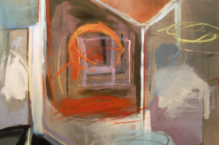 Reliquary abstract painting